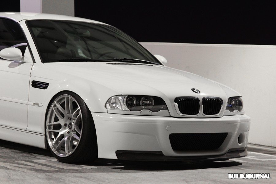 Track Vs Stance With Two Alpine White E46 M3 Csl