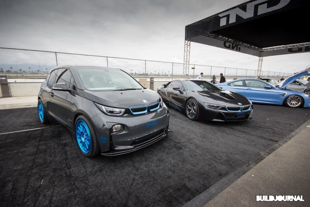 IND BMW i3 and i8 - Bimmerfest 2015 at Auto Club Speedway